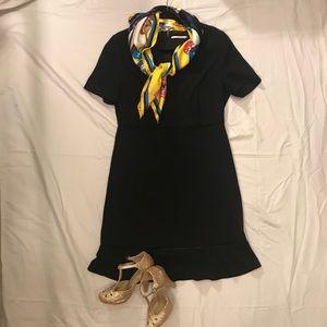 Black Tahari short-sleeve dress